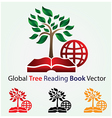 Global Tree Reading Book vector image