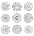Set of circles logo design doodle elements vector image