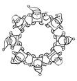 santa clauses circle vector image