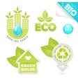 set eco and bio icons vector image vector image