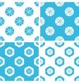 Basketball patterns set vector image vector image