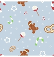 Retro style Christmas pattern Winter background vector image