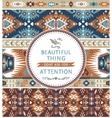 Aztec decorative seamless pattern vector image vector image