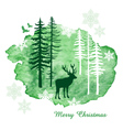 Watercolor Christmas card vector image vector image