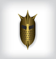 Medieval gold warrior helmet vector image