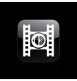 audio player icon vector image vector image