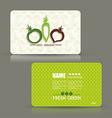 Card set eco design organic foods shop or vegan vector image vector image