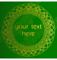 Green background with round gold pattern in East vector image