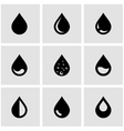 black drop icon set vector image