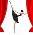 abstract ballet dancer in black vector image vector image