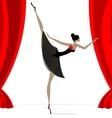 abstract ballet dancer in black vector image