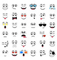 abstract flat style emoticon icon set vector image