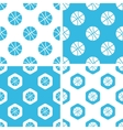 Basketball patterns set vector image