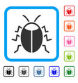 bug framed icon vector image