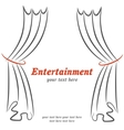 Entertainment poster with curtains vector image