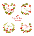 Floral Tags Labels and Banners - for T-shirt vector image