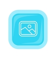 Landscape Icon In Flat Style Design vector image