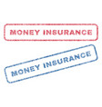 money insurance textile stamps vector image