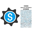 Money Sticker Icon with 1000 Medical Business vector image