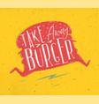 poster take away burger pink vector image vector image
