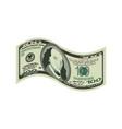 100 dollar isolated usa money on white background vector image