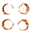 Set of coffee stains for design vector image
