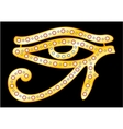 Gold eye of Horus vector image vector image