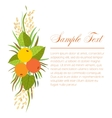 Ikebana with apples and oats vector image