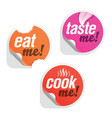 culinary stickers vector image vector image