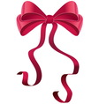 pink gift bow vector image vector image