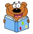 Cute Bear Reading A Book vector image vector image