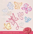 Butterfly design elements vector image