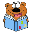 Cute Bear Reading A Book vector image