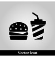 fast food flat icon on grey background vector image