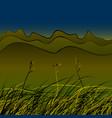 green steppe grass vector image