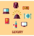 Luxury hotel flat concept vector image