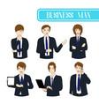 set business man vector image