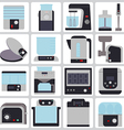 set of icons of small household appliances for the vector image