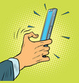 touch gesture on a smartphone vector image