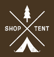 Vintage logotype of camping or shop vector image
