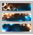 Bokeh light banners vector image