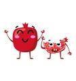 Garnet Cute fruit character couple vector image