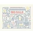 Big Sale - line design composition vector image