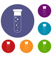 blood test icons set vector image vector image