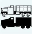 Military truck vector image