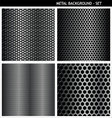 metal background set vector image vector image