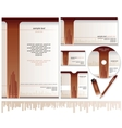 Business Card Brochure Envelope Design Templates vector image