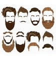 Man hair mustache and beards collection Hipster vector image