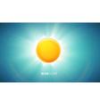 orange glowing sun eps 10 vector image