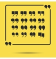 Quote marks set vector image
